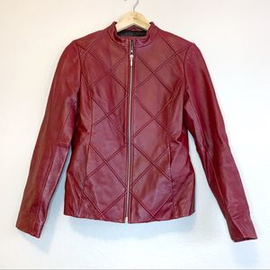 Mossimo Red Leather Jacket Size Small